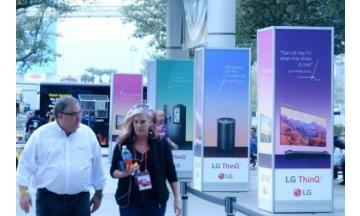 [CES 2018] LG전자, 인공지능 브랜드 '씽큐' 옥외광고 설치