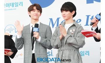 [BIG포토] 형섭-의웅, 팬 여러분~ 응원와주셔서 감사합니다 (2018 소리바다 어워즈)