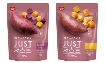 동원F&B, 100% 국산 고구마 원물 간식 '저스트 큐브고구마' 2종 선봬