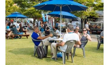 광주세계수영대회, 남부대 마켓스트리트 잔디광장 인기...다양한 공연 매일 실시