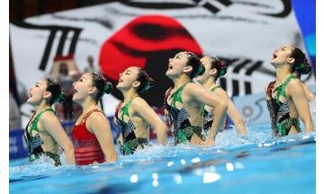 광주세계수영- 한국 아티스틱, 프리 콤비네이션 예선 11위로 결승행