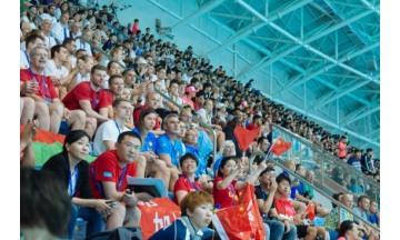 광주세계수영대회 경영 경기장 밀려든 관객들로 '인산인해'