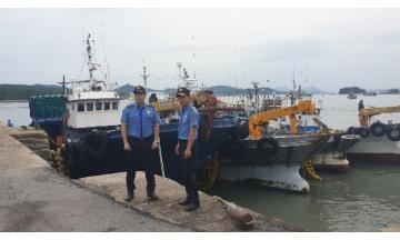 [포토뉴스]목포해경, 태풍'링링'비상근무 돌입...위험구역 중심 순찰활동 강화