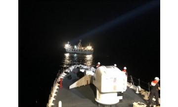 목포해경, 제주 추자도 해상 99톤급 기관고장 선박 안전 예인