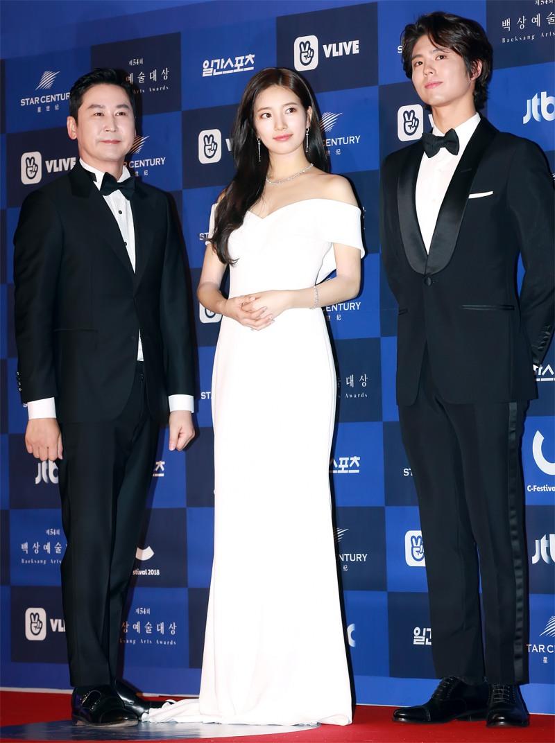 GET포토] 신동엽-수지-박보검, '2018 제54회 백상예술대상 MC군단'