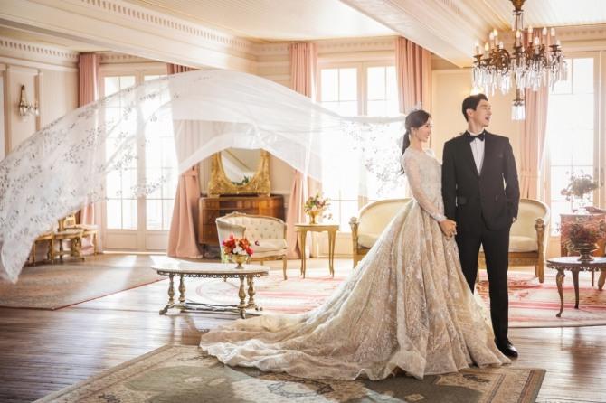 최운정의 결혼사진<br /> [볼빅 제공]