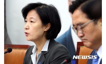 """추미애 """"朴 내보낸 한국당, 혼자 살겠다는 시도"""""""