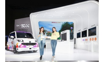 SK텔레콤 '서울모터쇼' 참가…5G 자율주행차 최적 경로 찾는 AI기술 첫선