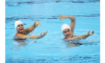 광주세계마스터즈수영대회, 아티스틱수영, 환상적 연기에 국내외 관중들 환호성