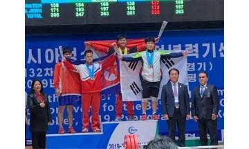 완도군 역도실업팀, 신비 선수 평양서 값진 메달 획득