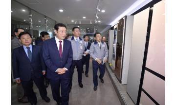 이용섭 광주광역시장, ㈜DH글로벌 방문 현장간담회 개최 '기업애로' 해소 모색