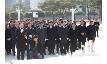 박시종 더민주 광산을 예비후보, 국립5.18민주묘지 참배...