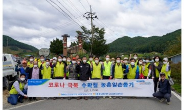 농협금융지주, '사업전략부문 임직원' 수확기 농촌일손돕기 실시